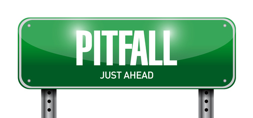 pitfall road sign illustration design
